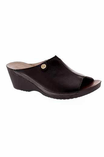 nordikas sandales et nu et pieds femme de couleur noir