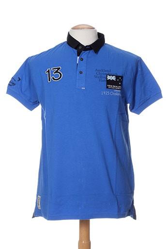 vestiaires principaute cannoise t-shirts homme de couleur bleu
