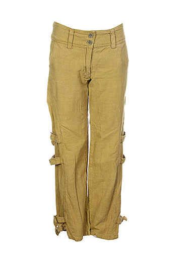 lana EFFI_CHAR_1 lisa pantalons femme de couleur jaune