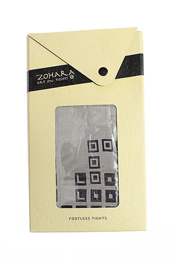zohara leggings femme de couleur gris