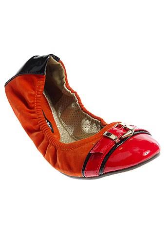 raxmax ballerines femme de couleur orange