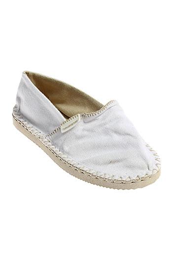 havaianas chaussures enfant de couleur blanc