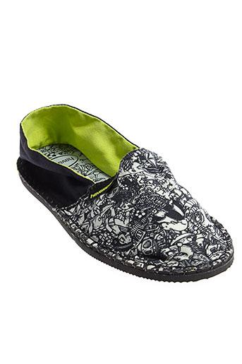 havaianas chaussures femme de couleur noir