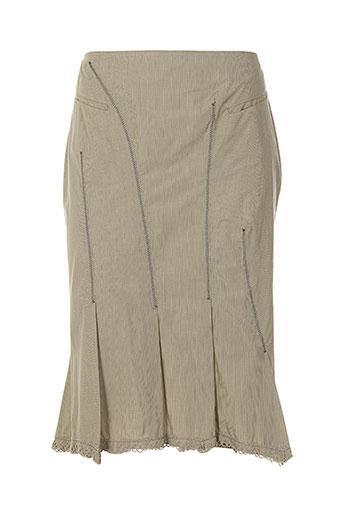 imprevu jupes femme de couleur beige