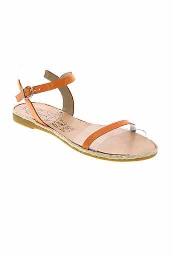 geo et reino sandales et nu et pieds femme de couleur orange