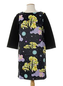Robe mi-longue noir DOROTHEE OSSART pour femme