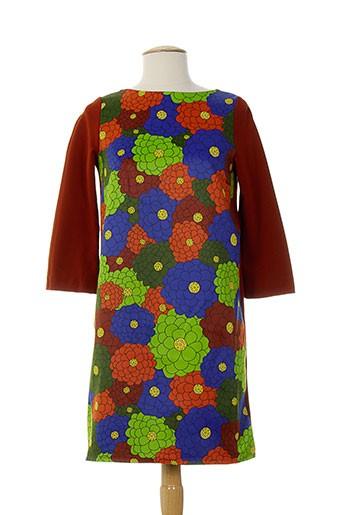 Robe mi-longue orange DOROTHEE OSSART pour femme