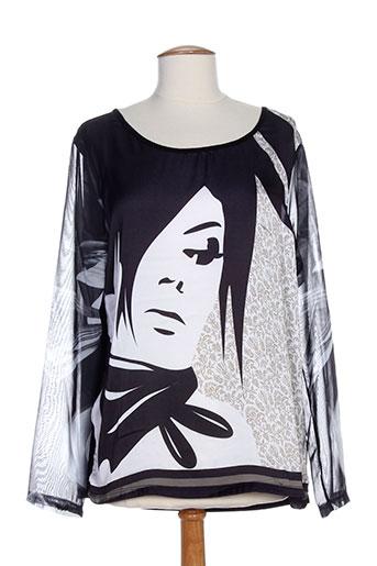 geisha chemises femme de couleur noir