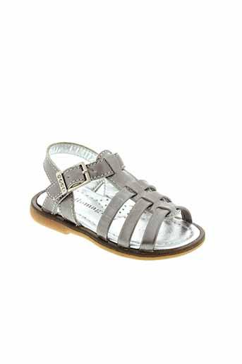 romagnoli sandales et nu et pieds fille de couleur gris