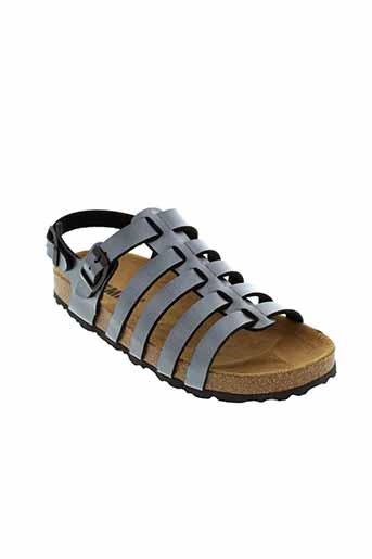 emma sandales et nu et pieds fille de couleur gris