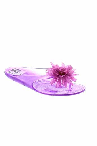 cassis et cote et d et azur tongs femme de couleur violet