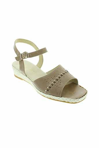 gf et confort sandales et nu et pieds femme de couleur marron