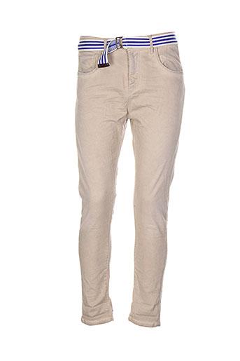 manila et grace pantalons et decontractes femme de couleur beige