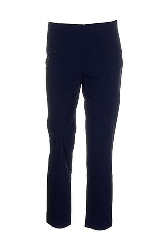 rundholz pantalons femme de couleur bleu