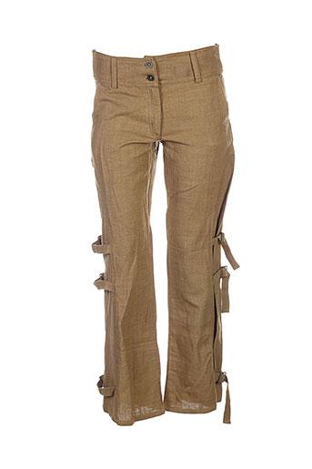 lana EFFI_CHAR_1 lisa pantalons femme de couleur marron