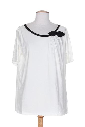 alpha studio t-shirts femme de couleur blanc
