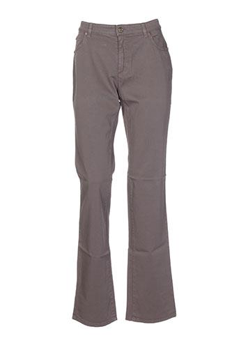 cerruti 1881 pantalons femme de couleur gris
