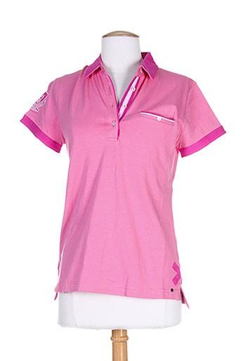 vestiaires et principaute et cannoise polos femme de couleur rose