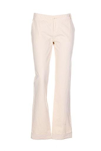 hampton bays pantalons femme de couleur beige