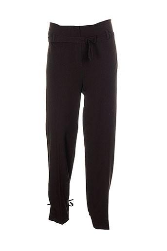 chiquita pantalons femme de couleur marron