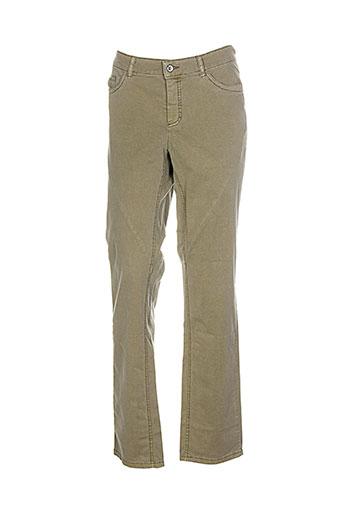 ascari pantalons femme de couleur vert