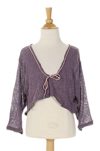 micro bulle vestes fille de couleur violet