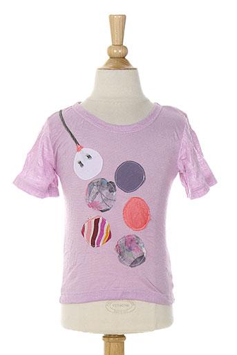 micro bulle t-shirts fille de couleur violet