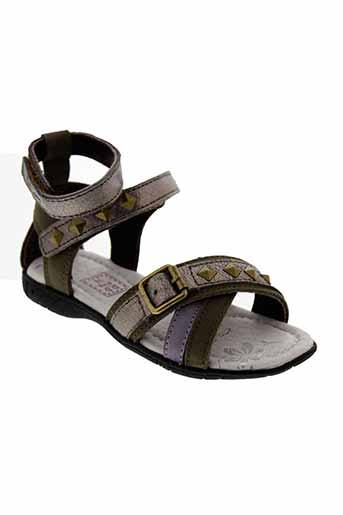 d et d et step sandales et nu et pieds fille de couleur vert