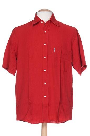 karl smith chemises homme de couleur rouge