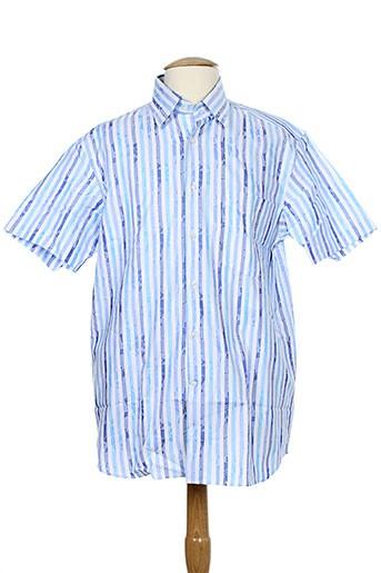 karl smith chemises homme de couleur bleu
