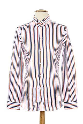 frankie morello chemises homme de couleur orange