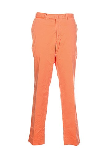 bernard zins pantalons homme de couleur orange