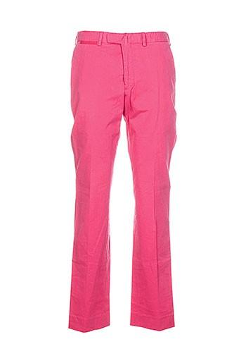 bernard zins pantalons homme de couleur rose