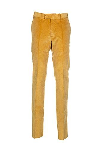 bernard zins pantalons homme de couleur jaune