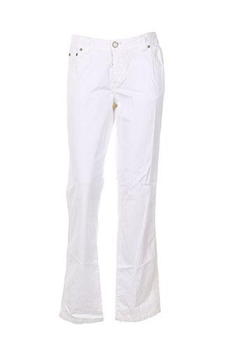 fuel pantalons femme de couleur blanc
