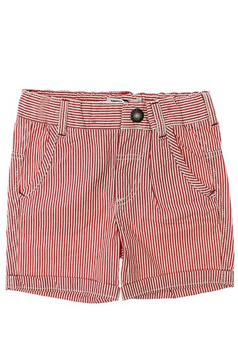 jean bourget shorts / bermudas garçon de couleur rouge