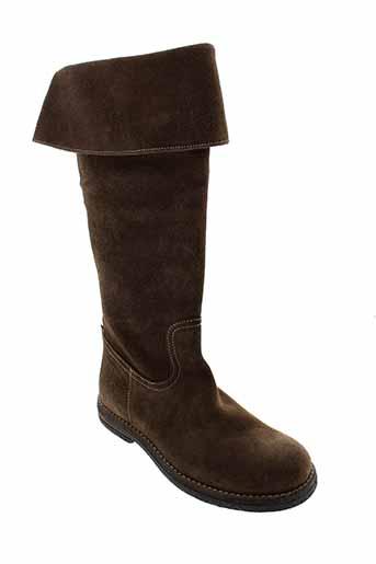 romagnoli bottes femme de couleur marron