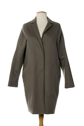 piazza sempione manteaux femme de couleur marron