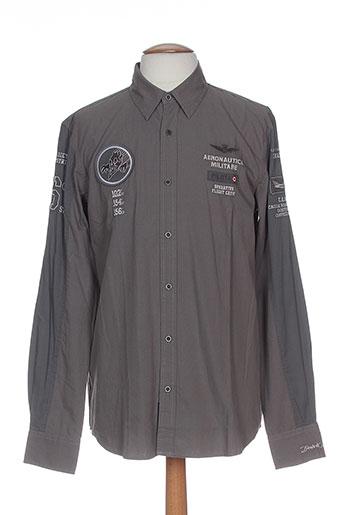 aeronautica chemises homme de couleur gris