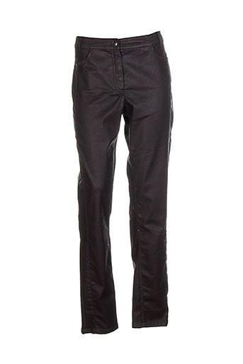 concept k pantalons femme de couleur marron