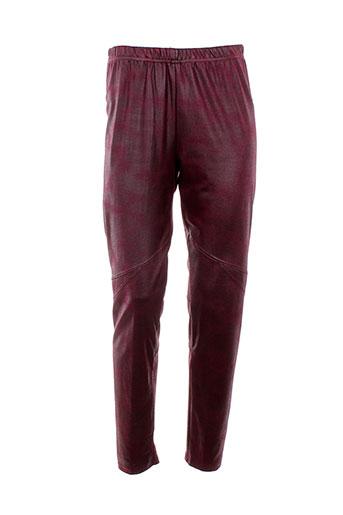 one o one pantalons femme de couleur rouge