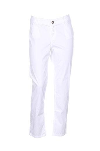 vicomte arthur pantalons femme de couleur blanc
