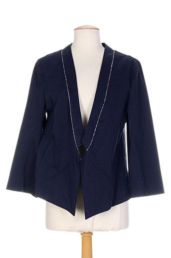 mademoiselle sarong vestes femme de couleur bleu