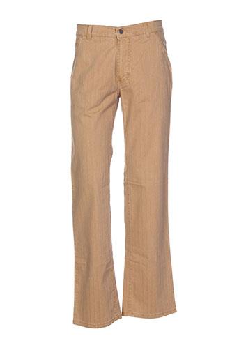 pioneer pantalons homme de couleur marron