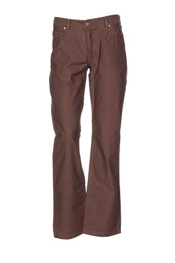 daniel et hechter pantalons et decontractes homme de couleur marron