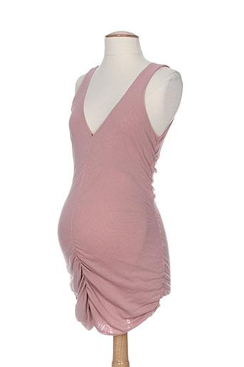 cybele enceinte tuniques femme de couleur rose