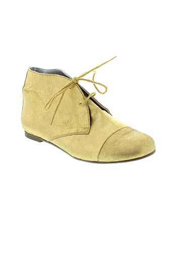 ippon et vintage boots femme de couleur jaune