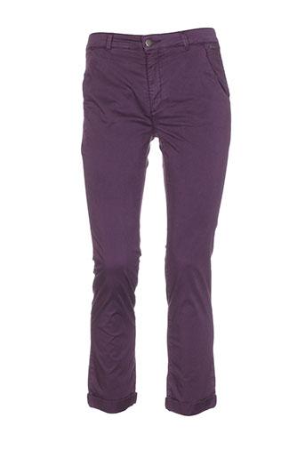 salt EFFI_CHAR_1 pepper pantalons femme de couleur violet
