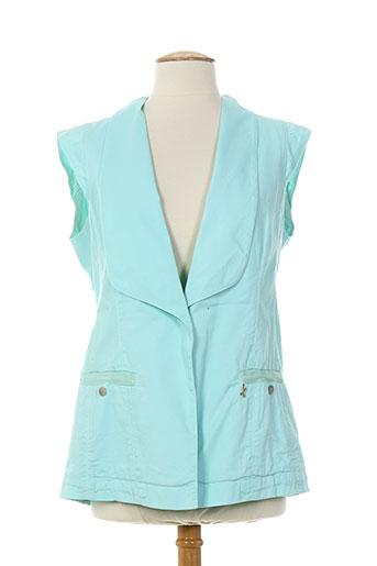 la manufacture 8 linvingstone vestes femme de couleur bleu