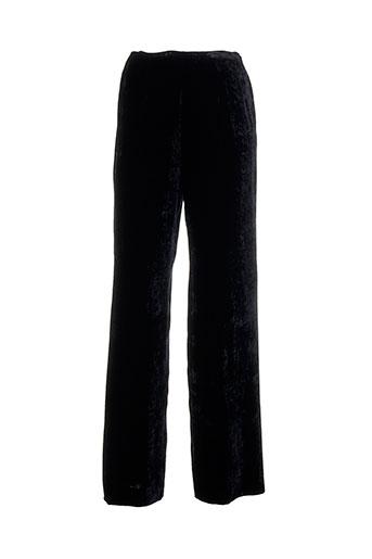 ines de la fressange pantalons femme de couleur noir